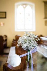 Gypsophila pew end Addington Palace