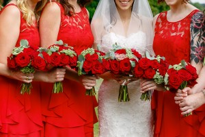 Grand prix bridesmaids' bouquets