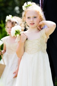 Flower girl at Belair House