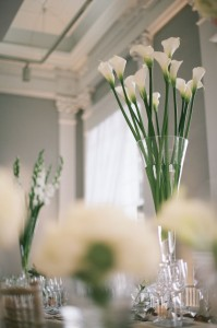 Arum lily tall vase ICA Carlton House Terrace wedding London