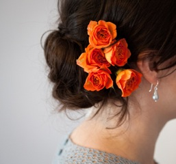 Annie's hair flowers