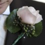 groom buttonhole with crystals