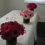 gerbera wedding table arrangements