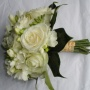 white rose and freesia bouquet